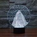 Novo Colorido USB-3D Montanha de Neve Decoração da Mesa de Escritório Lâmpada Criança Quarto LED Estrela Luzes Da Noite de Natal 3D-TD51