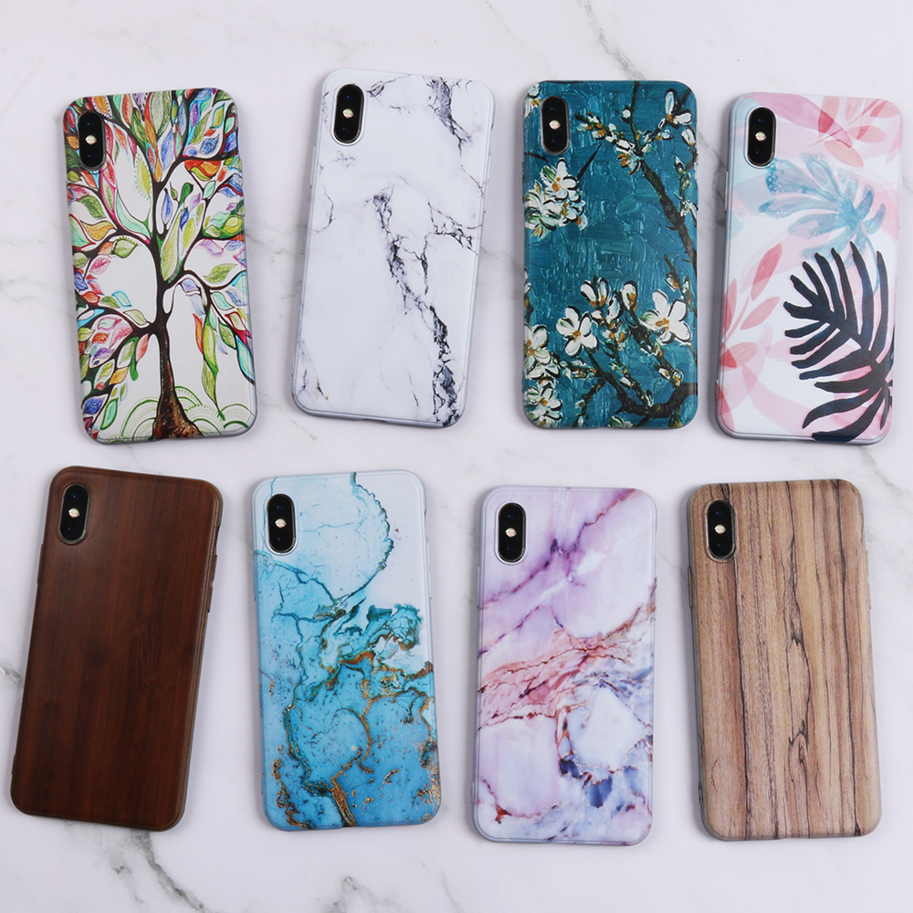 QIJUN Case For Huawei P30 P20 Lite Pro Fundas Soft Silicone Phone Cases For P8 P9 Lite min P10 Lite Plus TPU Back Cover Capa in Half wrapped Cases from Cellphones Telecommunications