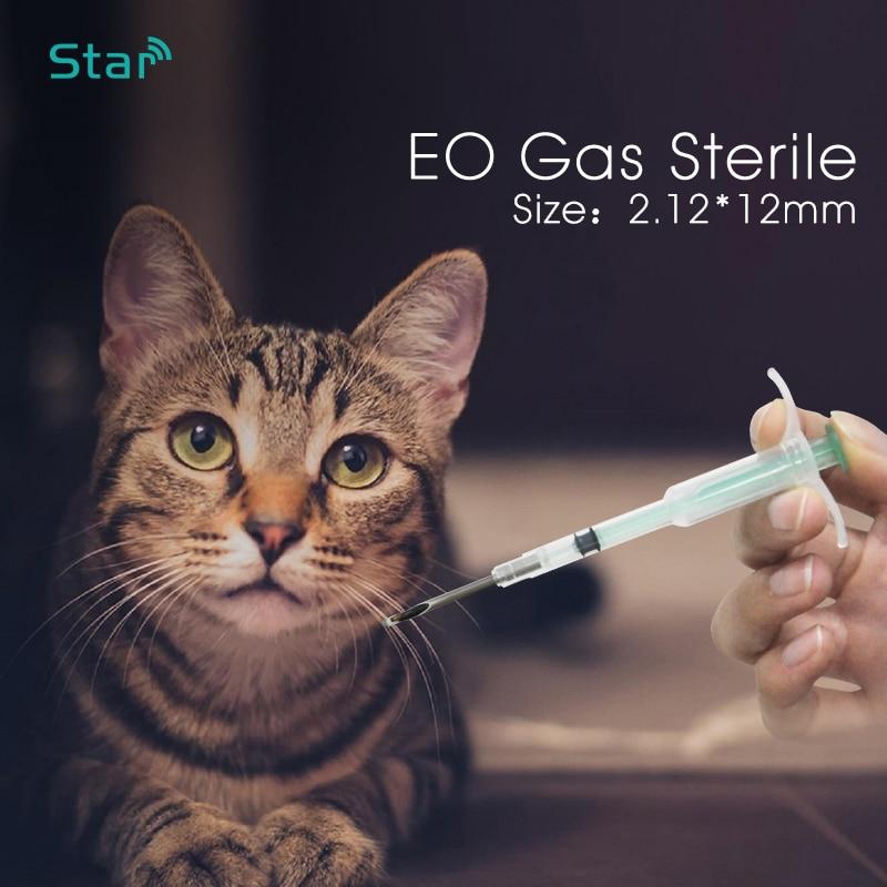 (40pc) 2.12*12mm Fdx-b Rfid Dog Microchip Animal Syringe ID Implant 134.2KHz For Animal Tracking/identification Pet Syringe Chip