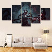 LoL Smile Braid Wall Art Painting 5 Pcs Canvas Print Photo for Living Room Home Decoration