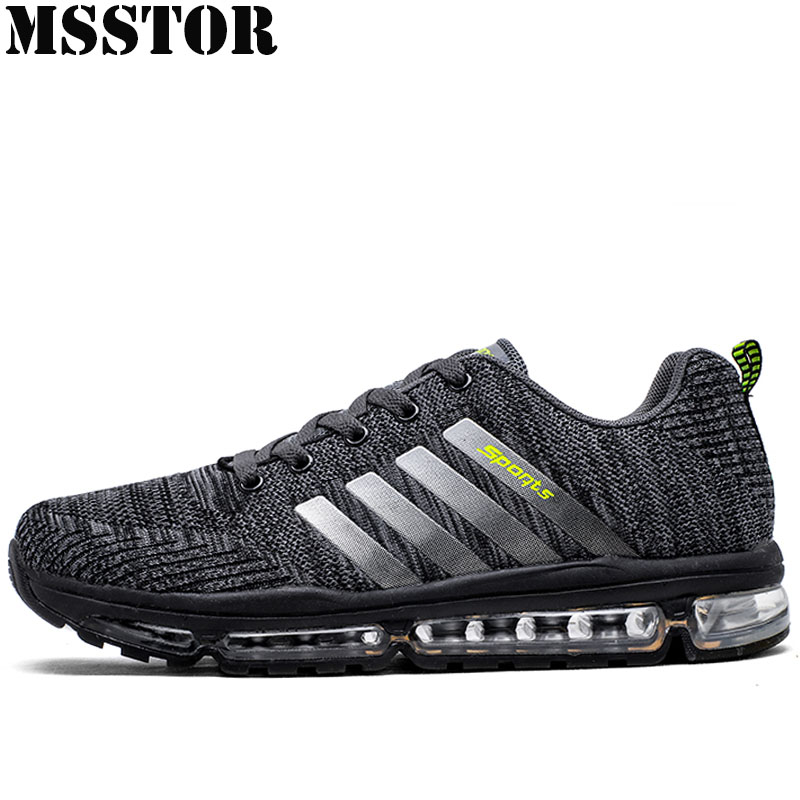 MSSTOR Men Running Shoes Brand Summer Breathable Mesh Sports Run Man Outdoor Athletic Long Distance Run Sport Shoes Men Sneakers