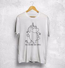 Moomin Real Unicorns Have Curves T Shirt Top So Sweet Love Gift Japanese Style(China)