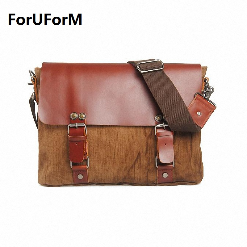 Vintage Crossbody Bag Military Canvas Casual fashion shoulder bags Men messenger bag men Handbag tote Briefcase LI-1041 aosbos fashion portable insulated canvas lunch bag thermal food picnic lunch bags for women kids men cooler lunch box bag tote