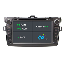 8 Inch 2 Din HD 1024×600 Quad Core Android 6.1 RAM 1G Car DVD GPS For Toyota Corolla 2006-2011 With Stereo Radio 4G WiFi OBD DVR