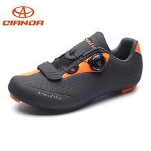 fc08c2202d QIANDA zapatos de ciclismo de carretera profesionales hombre antideslizante ciclismo  zapatillas hombres triatlón bicicleta zapatos transpirables