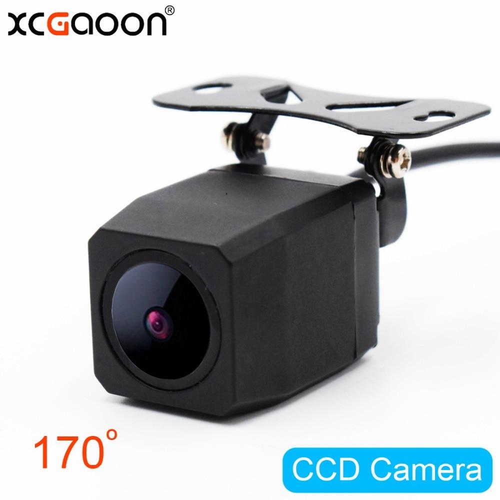 XCGaoon Metall CCD HD Rückfahrkamera Nachtversion Wasserdicht Weitwinkel Rückfahrkamera Parkplatz Wendehilfe-unterstützungsradar