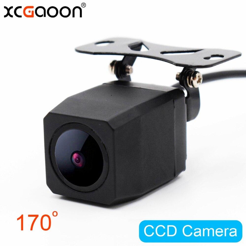 Xcgaoon metal CCD HD cámara de visión trasera versión nocturna impermeable gran angular cámara de reserva que invierte asistencia