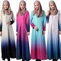 Новая Мода Национальная Trend Градиент Цвета Мусульманин Платье Абая Кафтан Арабские Одежды Плюс Размер Исламская Одежда Женщин Бурка #035
