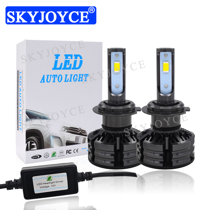 Car Lights Automobiles & Motorcycles Alert Skyjoyce All In One T6 Tri-color H4 H7 H11 9005 9006 Led Headlight 60w 6000lm 3000k 4300k 6000k 3-color Switch Led Fog Light
