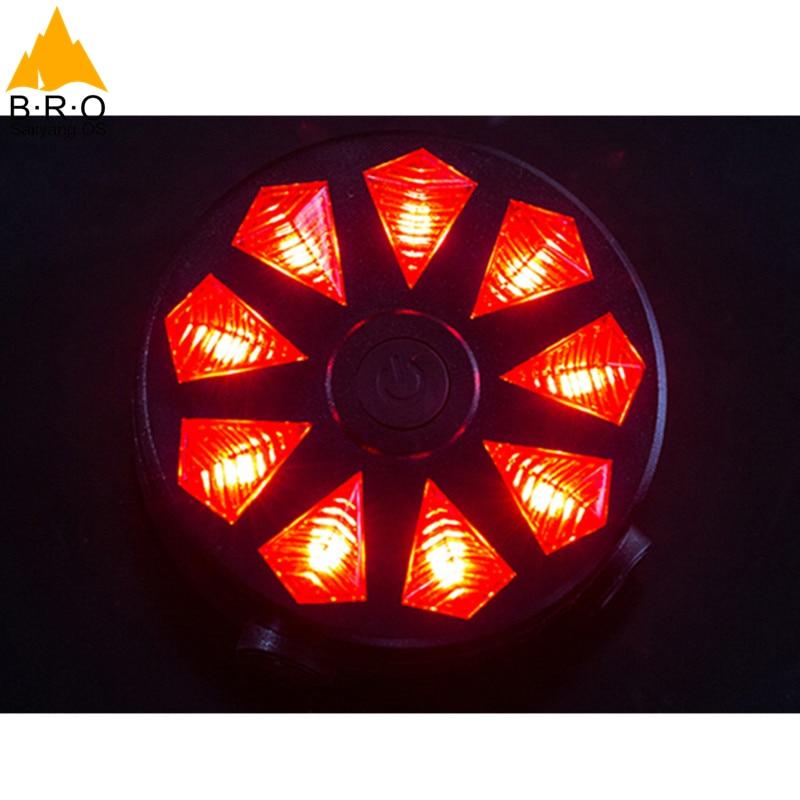 Հեծանիվ լույսեր 2 լազեր 9 LED - Հեծանվավազք - Լուսանկար 3