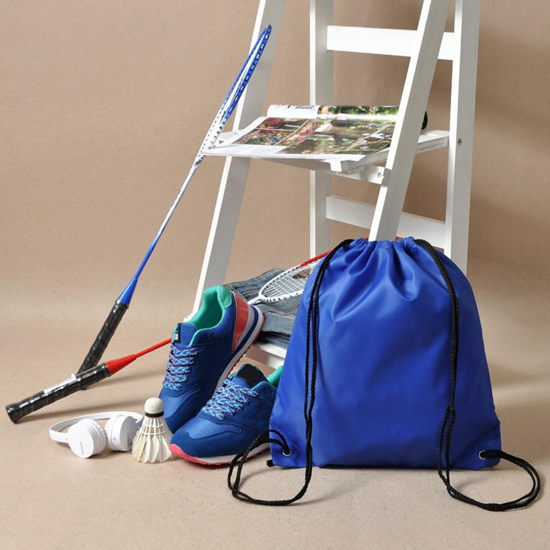 Intelligent Nylon Drawstring Bag Rope String Sack Beach Women Men Travel Storage Package Teenagers Backpack Bundle School Sport Organizer 100% Guarantee Home Storage & Organization Storage Bags