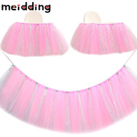 MEIDDING 1Pcs DIY Tulle Tutu Table Skirt Wedding Party Birthday Decor Baby Shower Kids Home Tutu