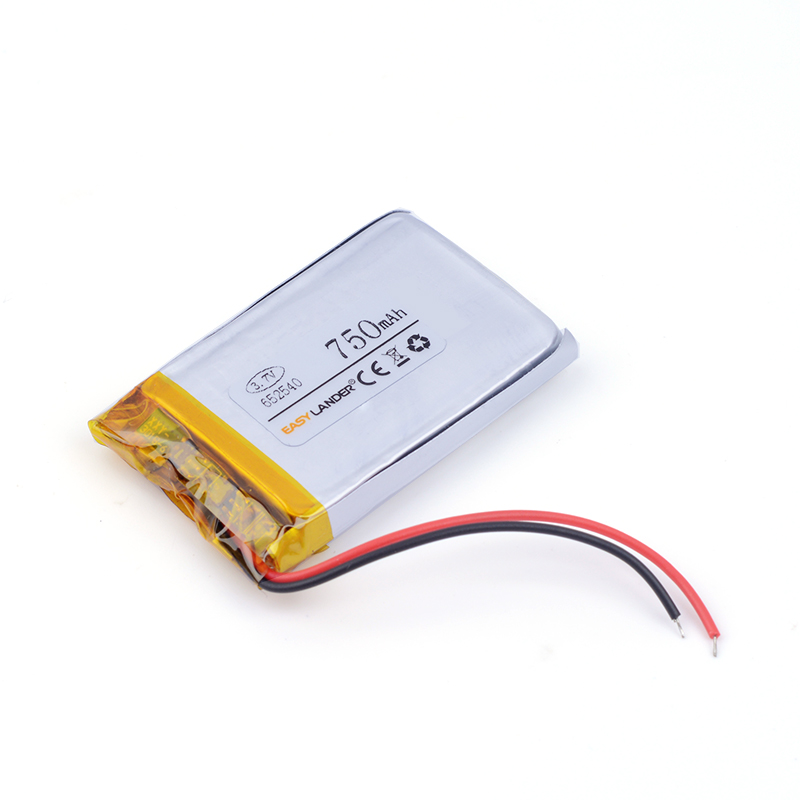 small capacity rechargeable li-ion batteries 3.7v 750mah <font><b>652540</b></font> for toys mobile power DVR smart watch Sports bracelet image