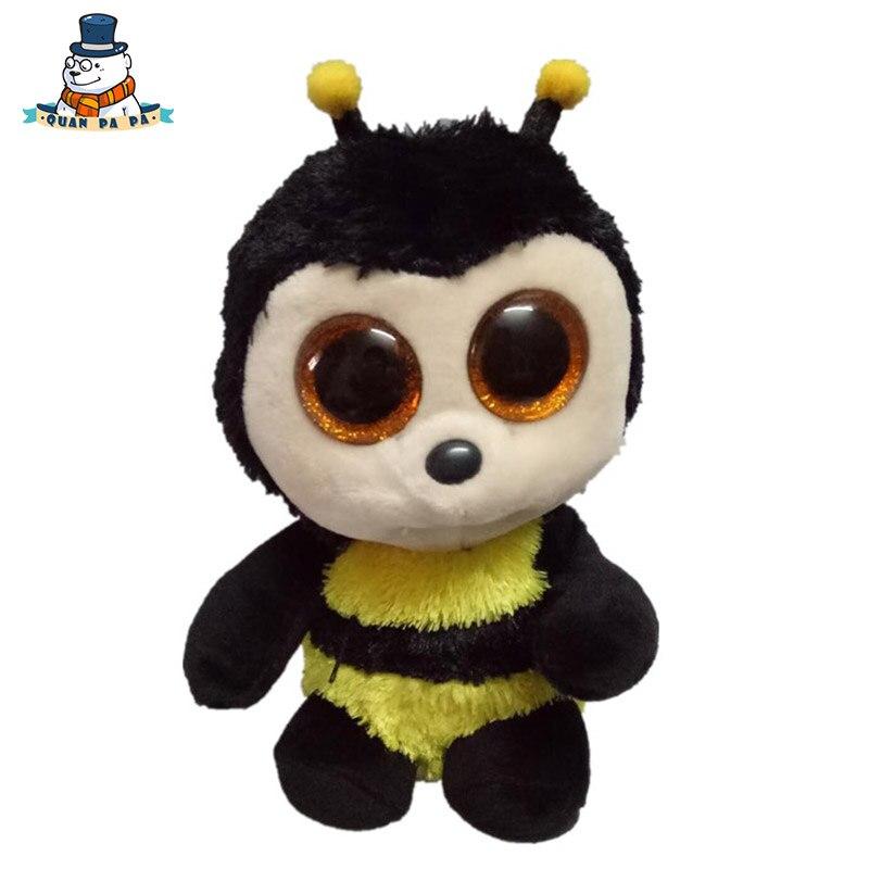 [Quanpapa] Новое 15 см хлопок Животные плюшевые игрушки пчелы кукла регулярное мягкие Животные Ty Beanie Боос плюшевые игрушки для ребенка