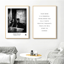 цена на Love Quote Wall Art Canvas Painting Nordic Posters And Prints Black White Canvas Art Wall Pictures For Living Room Bedroom Decor