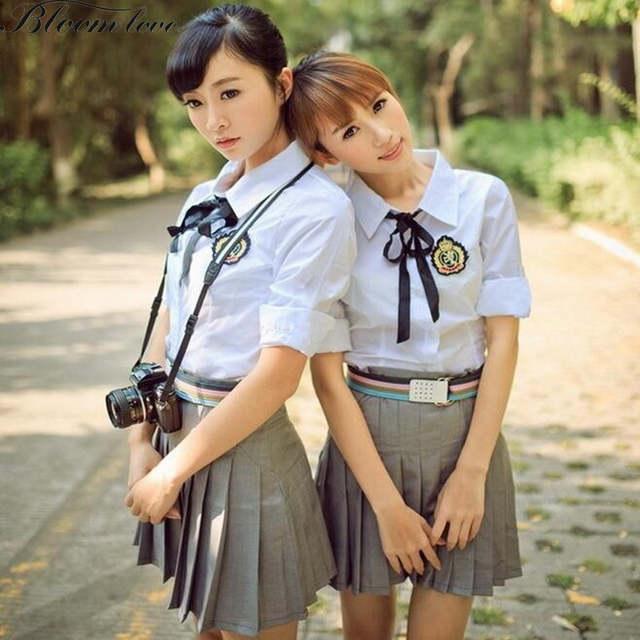 22c89f478 Online Shop New Fashion School Uniform Students Class Suits academism  school clothes Shirt+Dress British school autumn winter uniforms X01