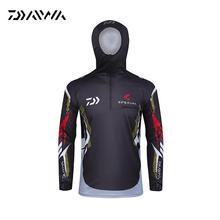 Daiwa Fishing Shirts Breathable Sunscreen Hooded Fishing Clothing DAWAS Anti Uv Quick Dry Mens Fishing Clothes Camisa Pesca
