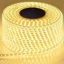 220 В водонепроницаемый Светодиодный светильник с вилкой европейского стандарта 2835 SMD гибкий веревочный светильник, 120 светодиодов/м высокая яркость наружное внутреннее украшение