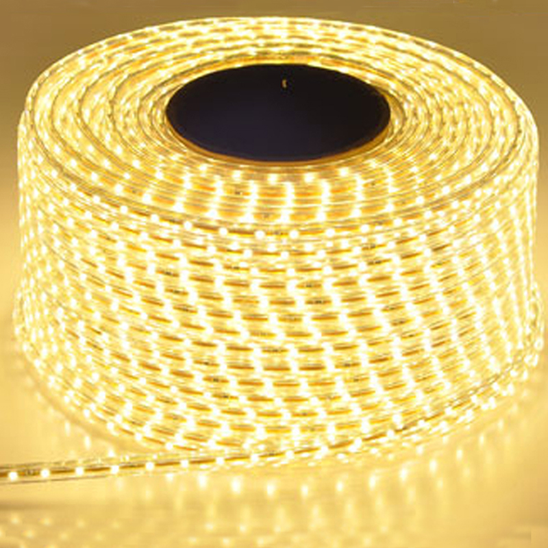 220V Waterproof Led Strip Light With EU Plug 2835 SMD Flexible Rope Light,120 Leds/M  High Brightness Outdoor Indoor Decoration
