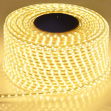 220V Waterproof Led strip light with EU Plug 2835 SMD flexib