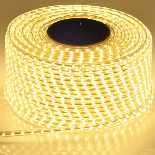 Tira de luz Led impermeable de 220V con enchufe de la UE 2835 SMD Luz de cuerda flexible, 120 Leds/M de alto brillo al aire libre interior Dimmer decor