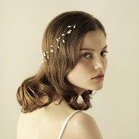 Bridal Flower Hairwear Accessory Ladies Wedding Accessories Womens Gold Floral Hair Bands Female Headbans O814