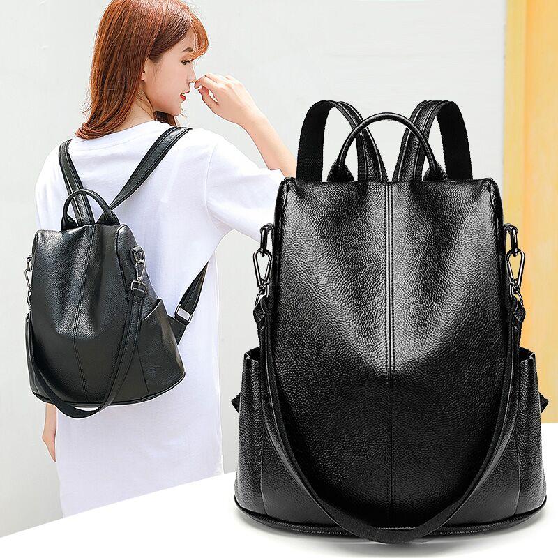 Sac à dos anti-vol CHALLEN femme 2018 nouvelle version coréenne du sac à dos lychee élégant sac à bandoulière polyvalent sauvage