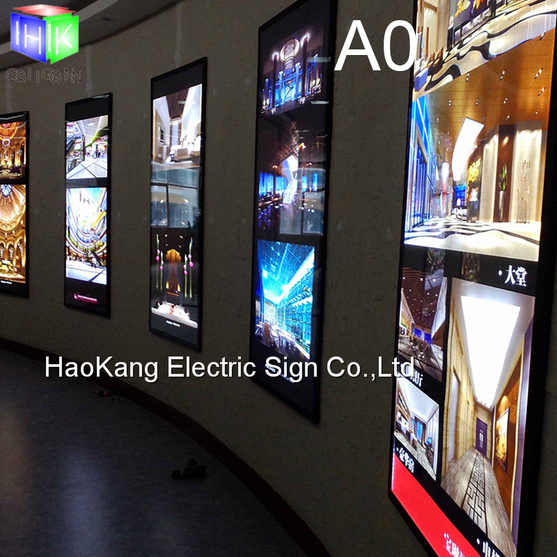 Wall Mounted Led Backlit Poster Frame Business Sign Board
