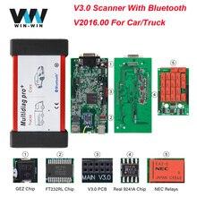V3.0 печатная плата multidiag Pro+ NEC Реле WOW. R1 для автомобилей/грузовиков OBD OBD2 Bluetooth сканер CDP TCS автомобильный диагностический инструмент VCI