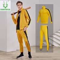 Vansydical Sport Past heren Sportkleding Fitness Running Jassen Broek Set Herfst Winter Outdoor Workout Joggingpakken 2 pcs