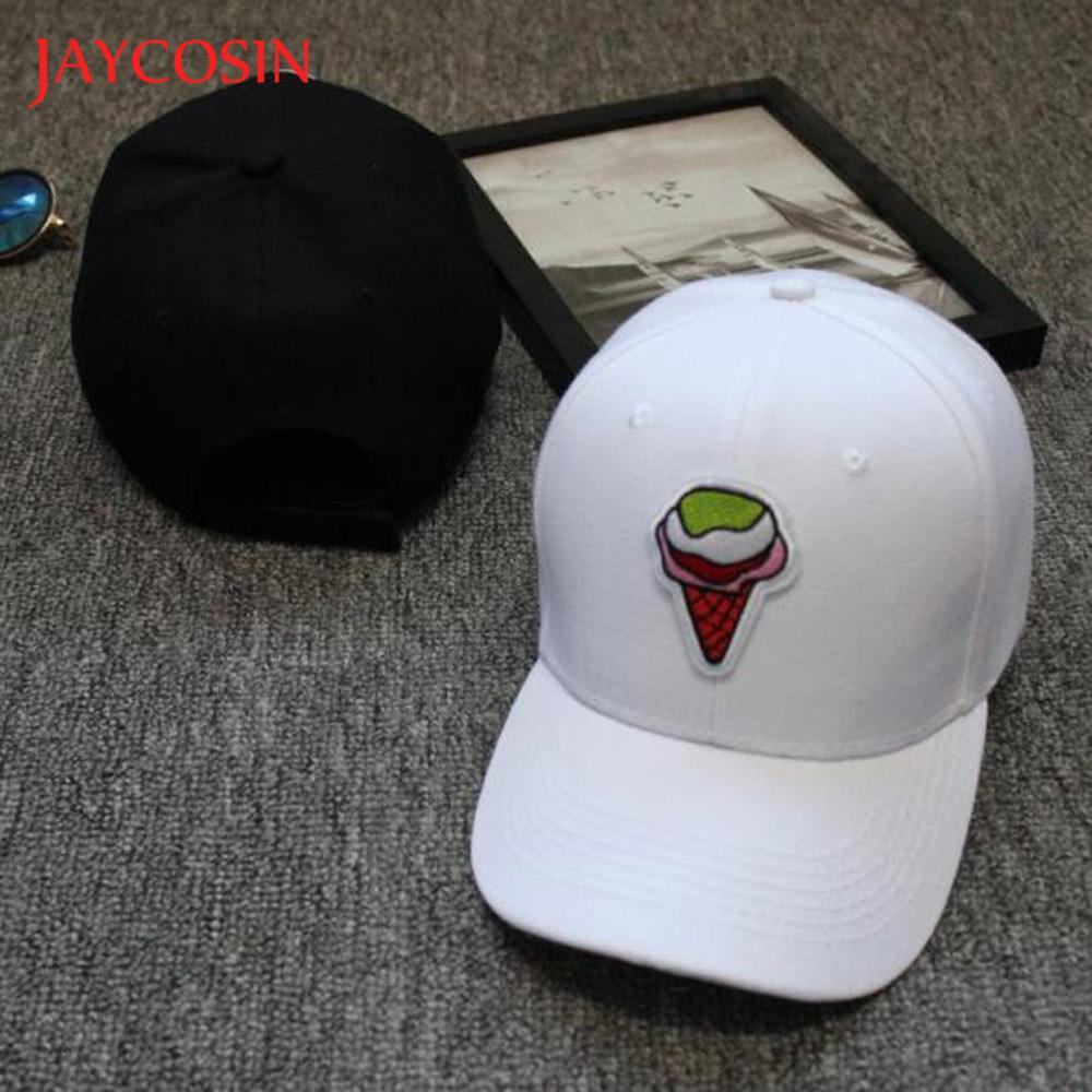 746e3f63ba0 JAYCOSIN baseball cap Casual hat Unisex popular Snapback Ice Cream Hats Hip  Hop Adjustable Hat Baseball Cap gloves FEB9-in Baseball Caps from Apparel  ...