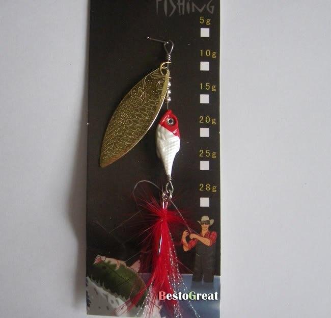 Рыболовная блесна, наживка ВЧ ложка крючок-мушка крутящаяся приманка приманки
