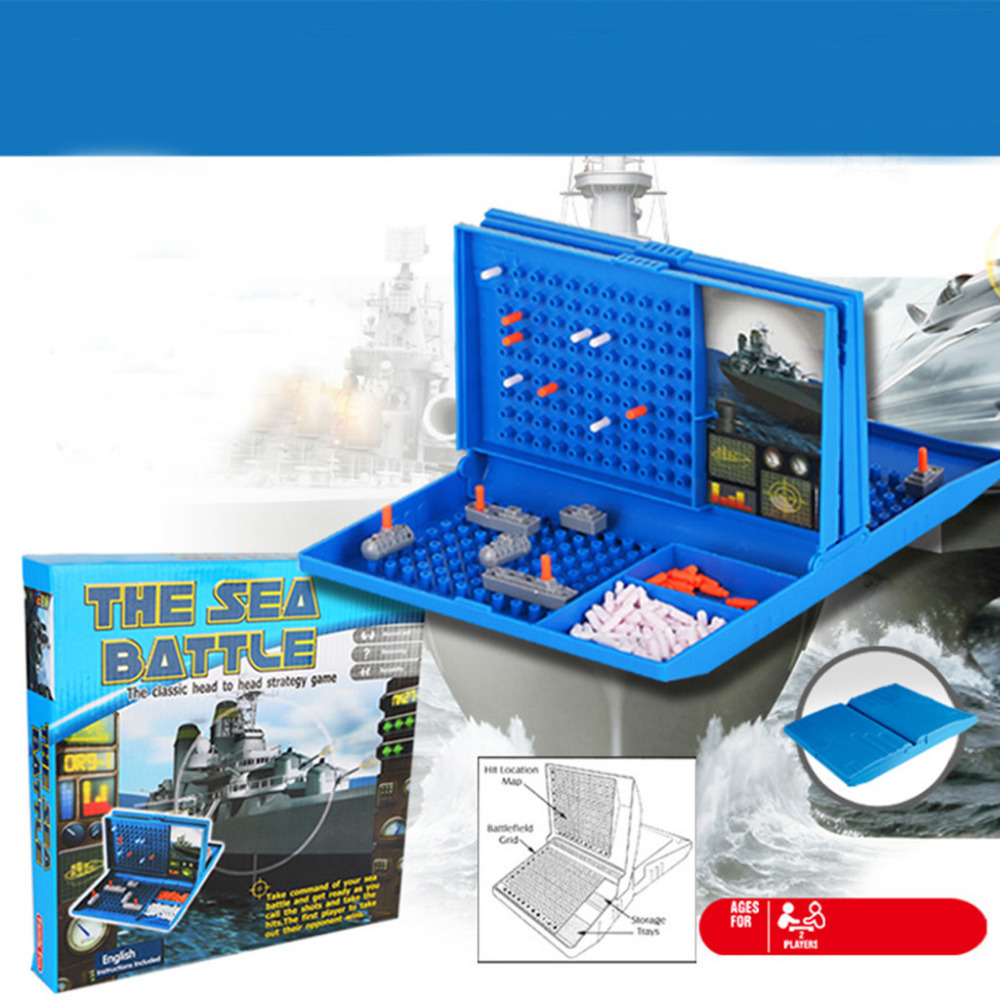 2019 New Year present for children Classic Battleship Game Strategy Board Game Sea Battle Toy Retro Series for Kids image