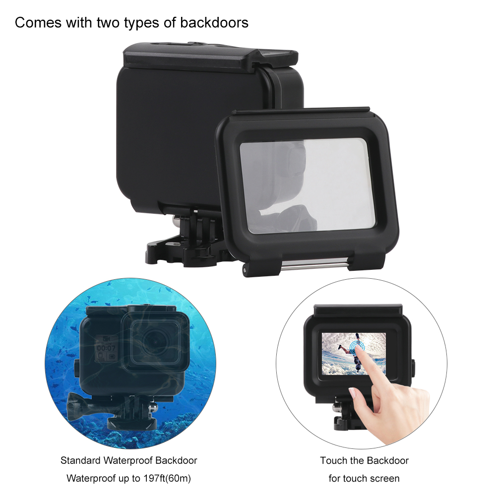 60m Diving Waterproof Case for GoPro Hero 7 6 5 Black Action Camera Underwater Housing Case for Go Pro Hero 6 5 Accessory in Sports Camcorder Cases from Consumer Electronics
