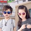 2016 Милые Детские Солнцезащитные Очки Дети Пластиковые UV400 Покрытие Cat Eye солнцезащитные очки Мальчики Девочки Очки ребенок Gafas De Sol 4-10 Т ребенка