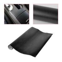 CITALL 150x50 cm Car Interno di Veicolo Finta Pelle Nera Texture Pellicola del Foglio Rotolo Adesivo Decalcomania