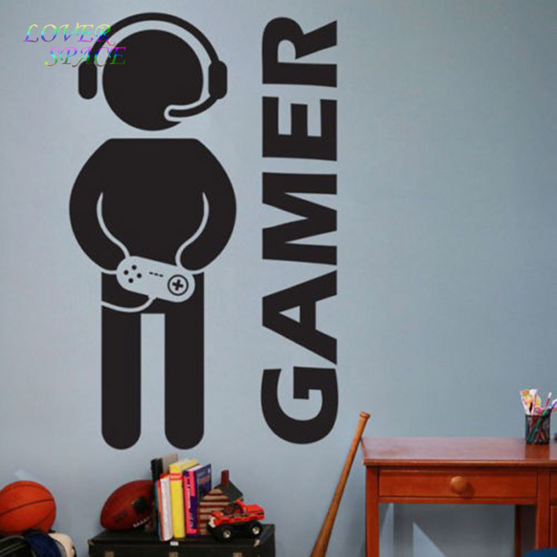 Aliexpress.com : Buy New Video Game Gaming Gamer Joystick Wall Decal Art  Home Decor Wall Stickers For Kids Rooms VInyl Decoration Wall Mural Paper  From ...