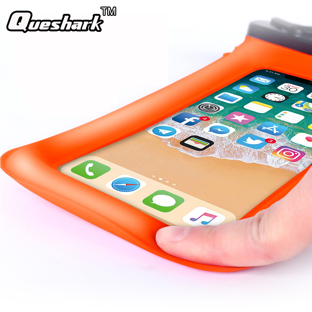 6.0 Inch Waterproof Touch Screen Swimming Bag Diving Drifting Mobile Phone Case River Tr ...