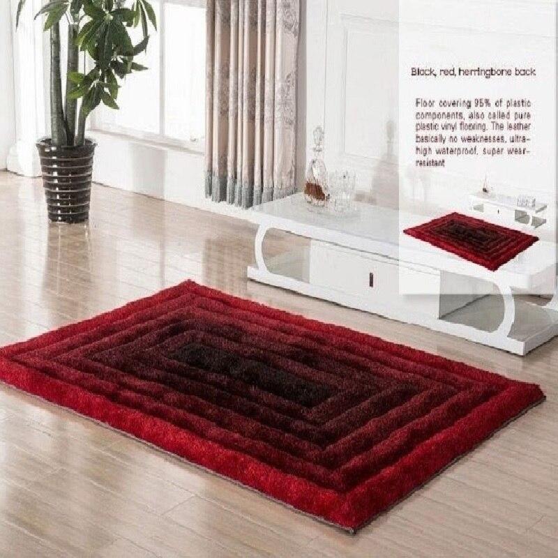 Мохнатые ковры YOOSA простой современная мода утолщение 3D стрейч шелковый ковер для гостиной чайная комната спальня диван коврик