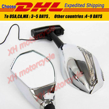 motorcycle partsTurn Signal Mirror fit for Ninja 500 ZX7R ZX6R ER6F 636 Z750 CHROMED