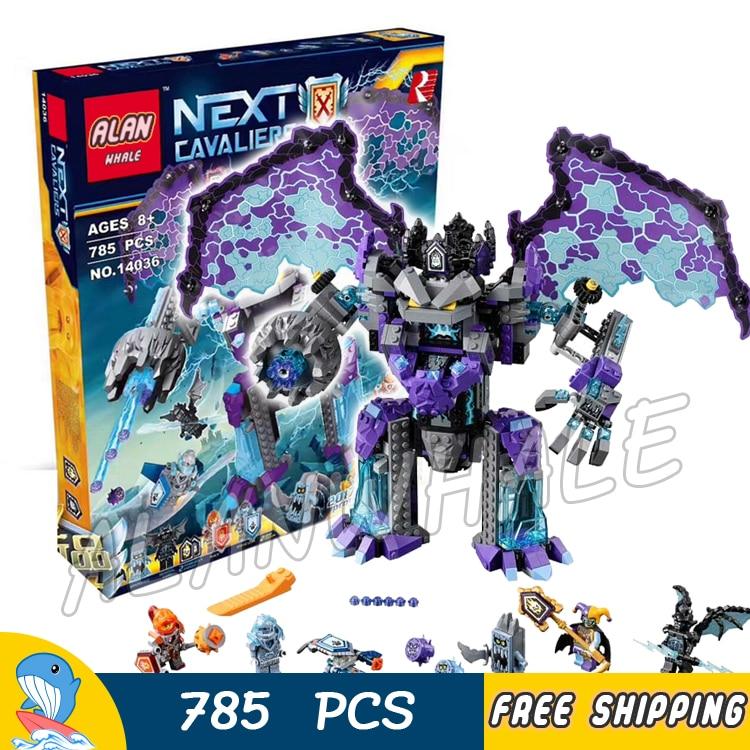 785pcs Knight Stone Colossus of Ultimate Destruction Model Building Blocks 10705 Assemble Bricks Toys Nexus Compatible With Lego ed 504 ваза pavone