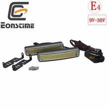 Eonstime 2 قطعة 15 سنتيمتر COB LED المركبات سيارة النهار تشغيل ضوء DRL تركيب قوس الضوء الأبيض مصباح 12 فولت/24 فولت قبالة وظيفة E4