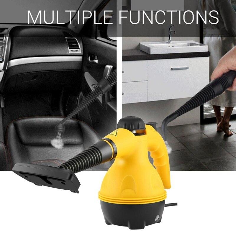 Prise Eu, nettoyeur à vapeur électrique multi-usages Portable nettoyeur à vapeur portatif accessoires de nettoyage ménager outil de brosse de cuisine