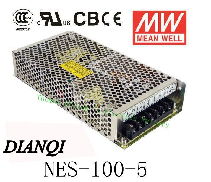 Original MEAN WELL power suply unit ac to dc power supply NES-100-5 100W 5V 20A MEANWELL original mean well nes 350 12 ac to dc single output 350w 29a 12v meanwell power supply nes 350