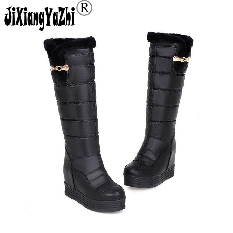 toe Las Zapatos Black Pantorrilla 2018 Moda De Med B Los Punta Jixiabgyazhi Botas Invierno Ayuda Mujeres 009 Slip Pusnow white en Brand gqCxaC0wp