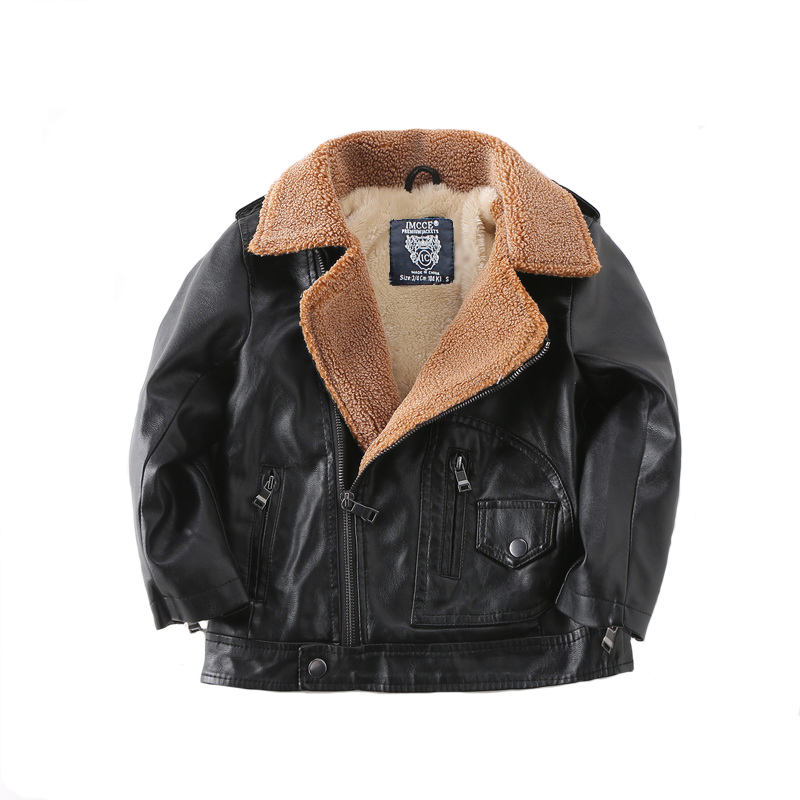 Spring Autumn Kids Jacket PU Leather boy Jackets Clothes Children Outwear For Baby boys jackets 553 2 14t baby boy clothes boys jacket leather spring letter boys outwear for children kids coats for boys baseball sweatershirt