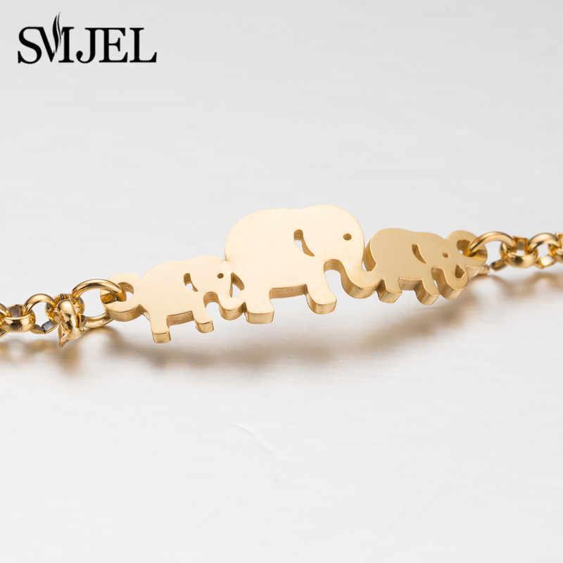 SMJEL חמה נירוסטה צמיד לנשים יפה בעלי החיים פרפר פיל גדיל צמידי צמידי תכשיטי אבזרים