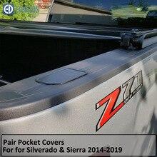 Карманные Чехлы для тележки и кровати для Chevy Silverado GMC Sierra пробки отверстий- звукоснимателя нечетные отверстия крышки