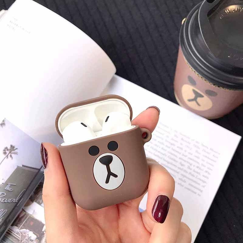 Airpods case Cute for airpods cover Cartoon protective hard case transparent wireless headphones case For iphone Headphone case in Earphone Accessories from Consumer Electronics