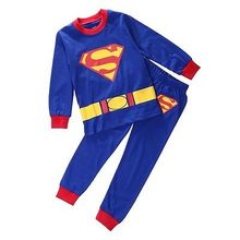 2pc Superman Baby Kids Boy Cartoon Homewear Clothes Sleepwear Pajamas set Outfit